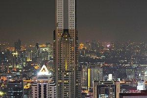 Eveningt skyline of Bangkok,Thailand