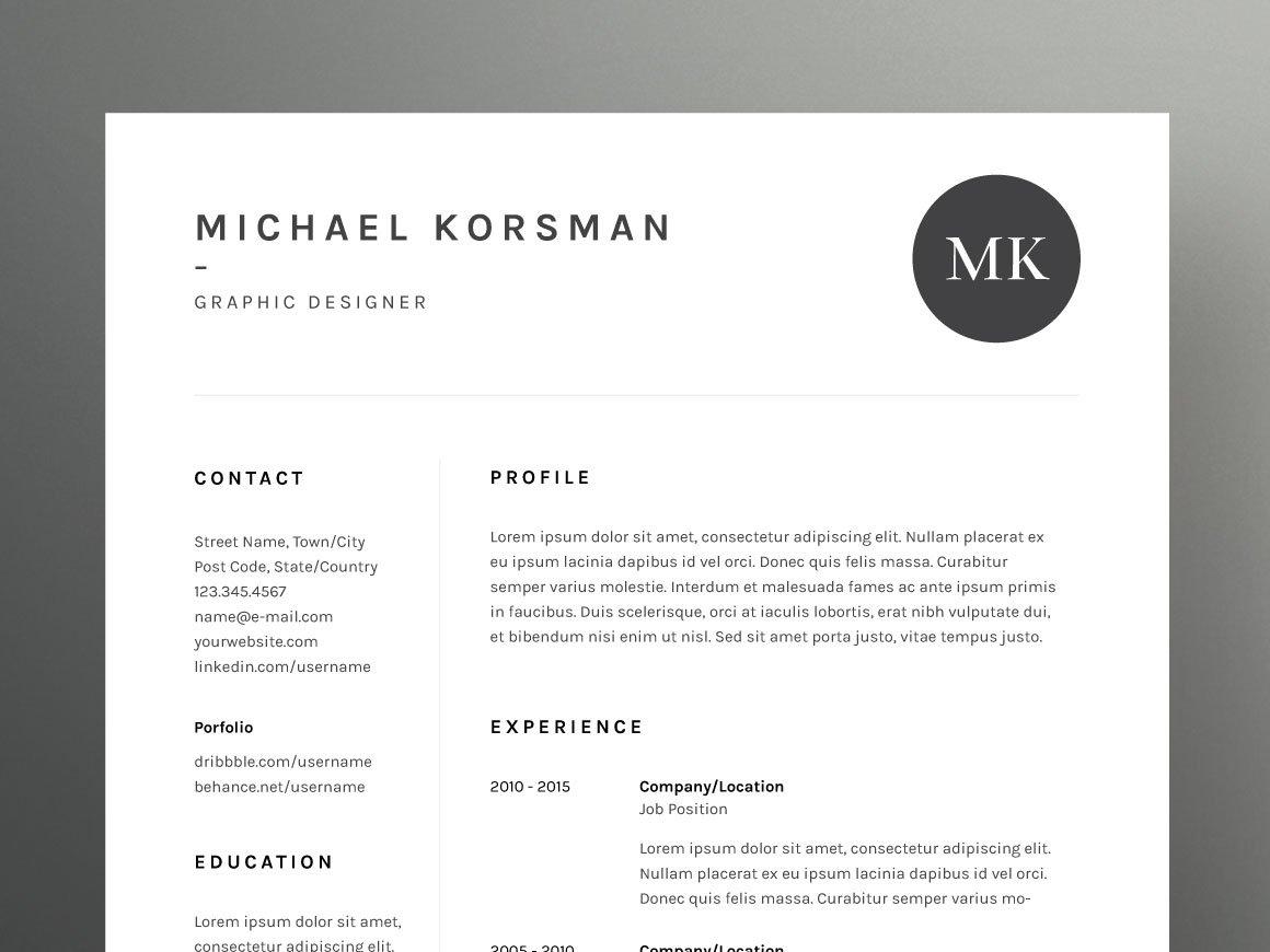 Michael Korsman  ResumeCV Template
