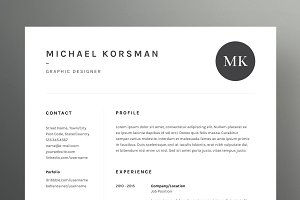 Michael Korsman - Resume/CV Template