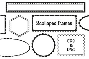 Simple scalloped frames