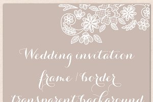 Wedding invitation lace border