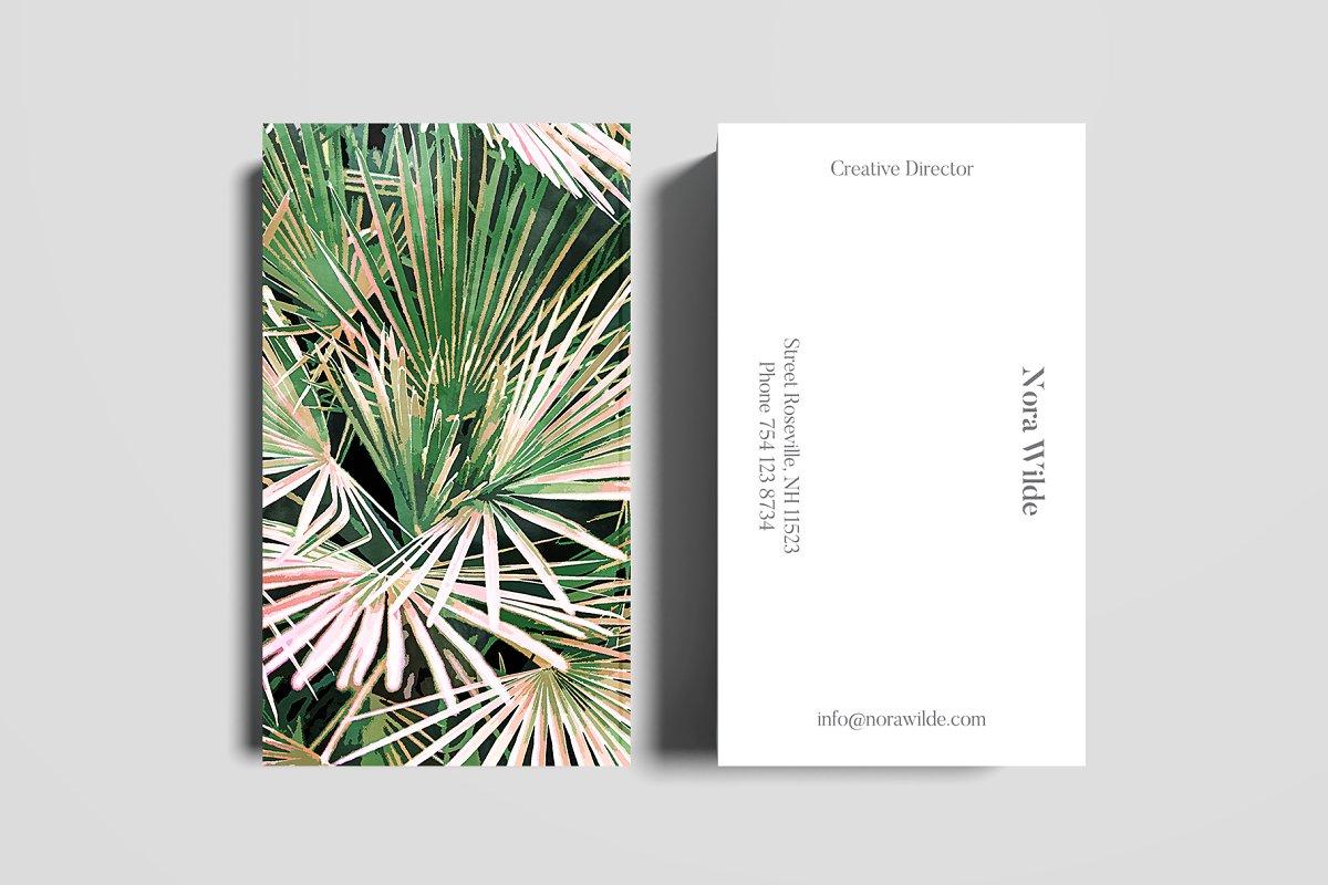 Palm II Business Card Template