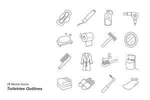 Toiletries Outlines