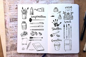 Sketches of art tools
