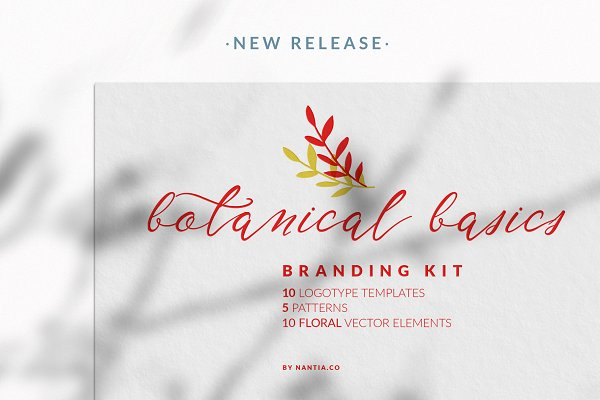 Botanical Basics Branding Kit- Logos