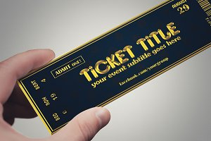 2 golden style TICKET templates