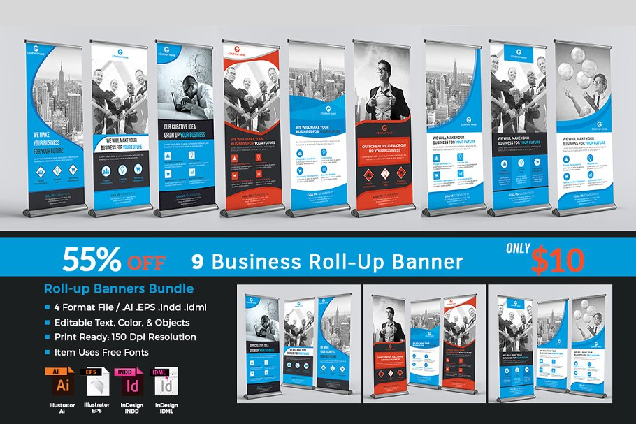Business Roll-up Banners Bundle