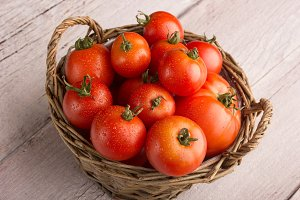 tomato in a basket