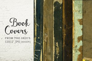 Old Worn Book Covers Digital Paper