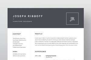 Joseph Ribboff - Resume/CV Template