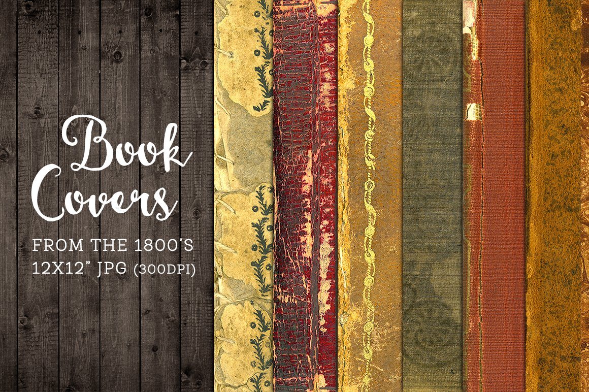 Old Book Cover Printable ~ Old worn book covers digital paper graphics creative