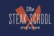 Meat logo. Logo for Steak School