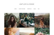 Antler & Rose Genesis Child Theme by  in Photography