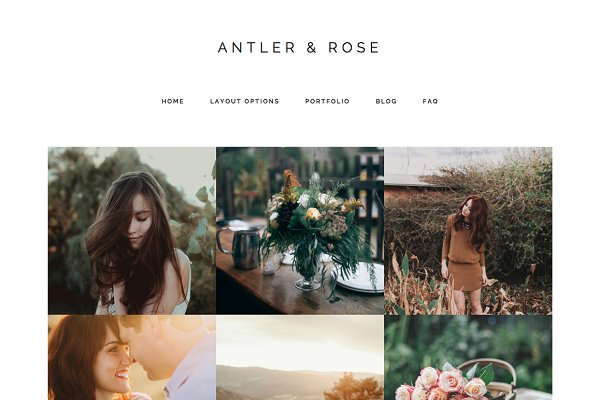 WordPress Photography Themes - Antler & Rose Genesis Child Theme