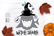 Witch Shark Funny Halloween Design
