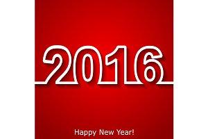 Creative New Year 2016 text design