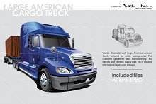 Large American Cargo Truck