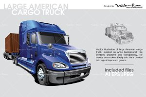 Large American Cargo Truck