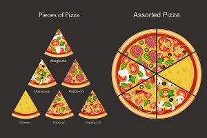 Pieces of pizza