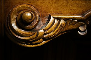 detail of wooden furniture