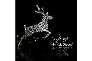 Silver Christmas  deer