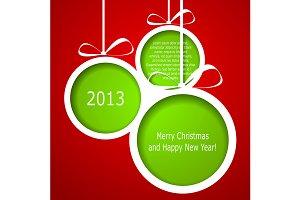 Abstract green Christmas balls