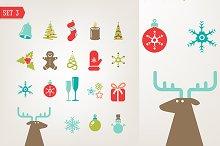 Christmas retro icons