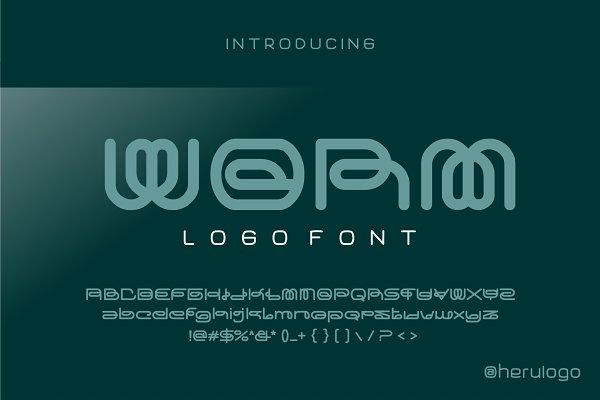 worm typeface