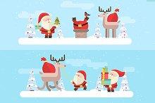 Santas set (vector)