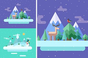 Winter nature cards