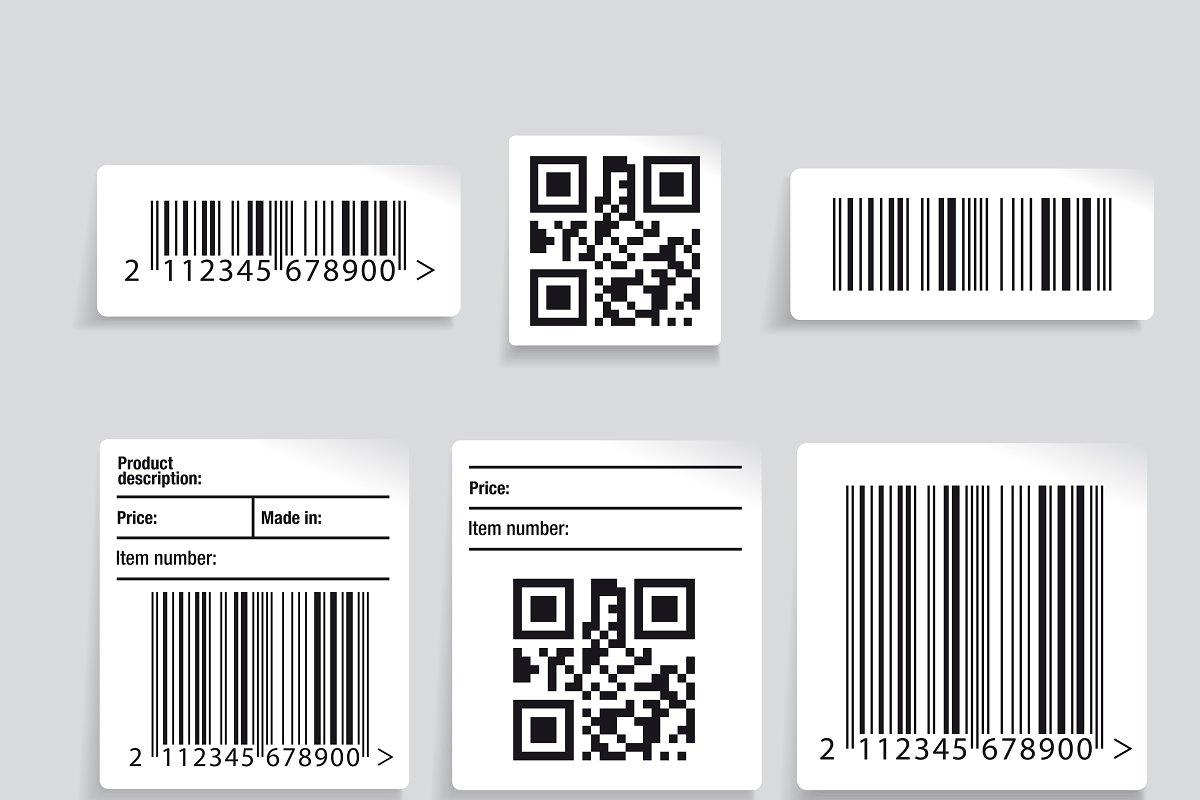 Barcode label set