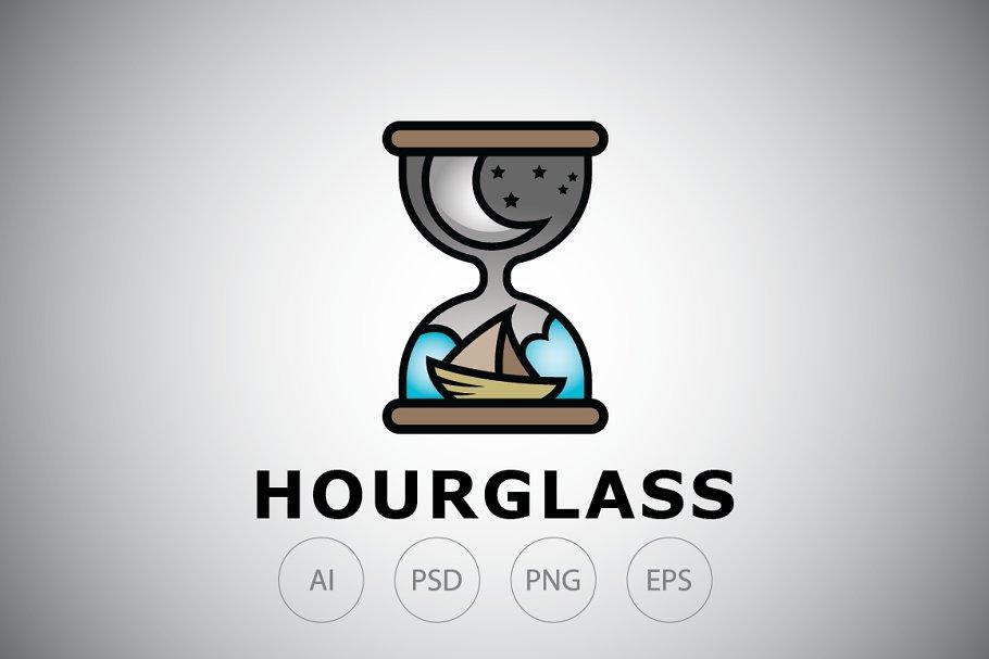 Ocean Hourglass Logo Template