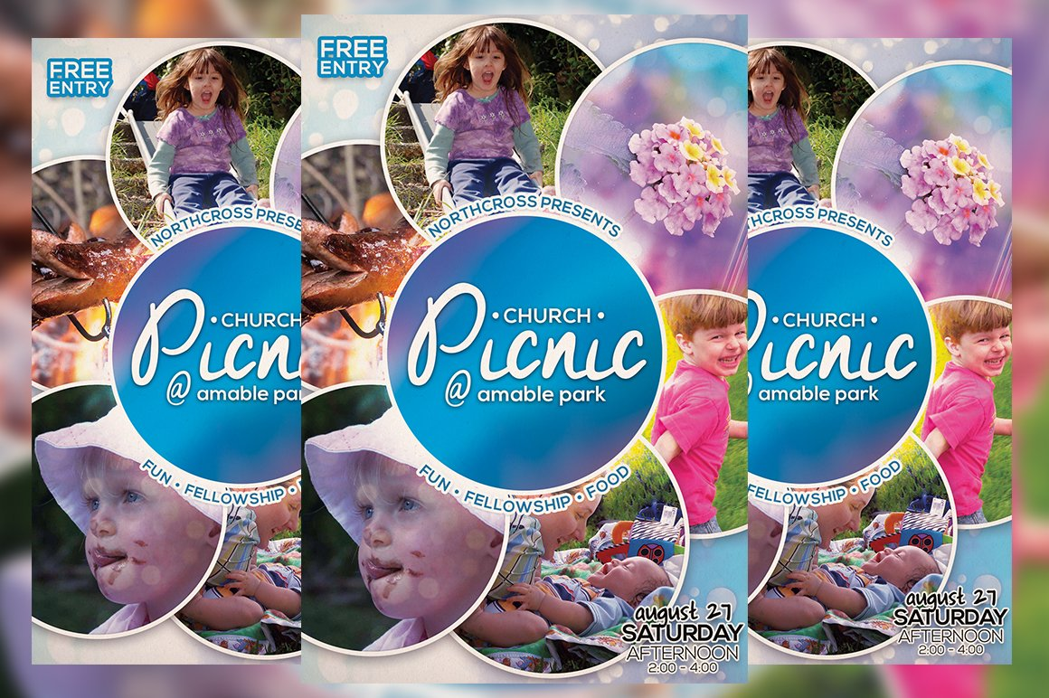 church picnic flyer vol 2 flyer templates creative market