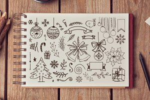 Hand Drawn Xmas Elements