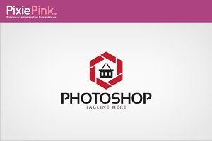 Photo Shop Logo Template
