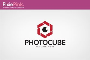 Photo Cube Logo Template