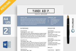 Alexandria Resume / CV MS Word
