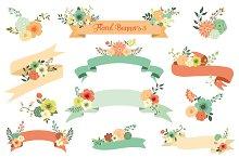 Floral Banners III. Vector Set
