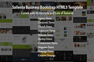 Saliente - Business Bootstrap HTML5