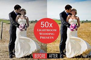 50x Lightroom Wedding Presets