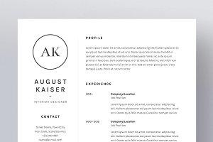 August Kaiser - Resume/CV Template