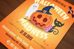 Halloween Flyer Cards Illustrations