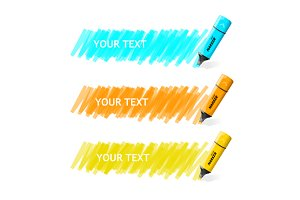 Markers Text Box. Vector