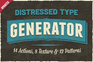Distressed Type Generator