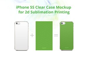 iPhone 5S 2D Clear Case Mock-up