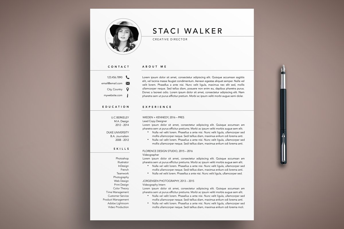 Professional Resume Template 3 Page ~ Cover Letter Templates ...