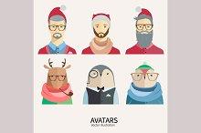 Hipster Christmas avatars