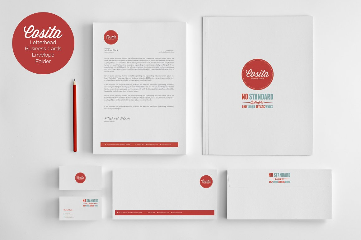 Cosita Corporate Identity ~ Stationery Templates ...