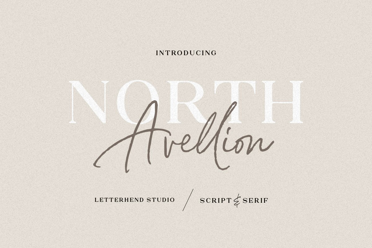 North Avellion - Script & Serif Duo in Display Fonts - product preview 8