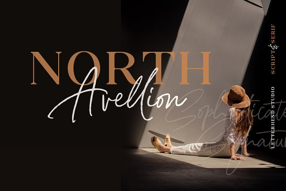 North Avellion - Script & Serif Duo in Display Fonts - product preview 2